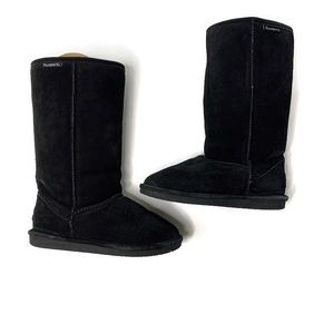Bearpaw Solid Black Fuzzy Classic Winter Boots